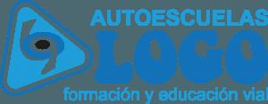 letras y simbolo de autoescuela logo