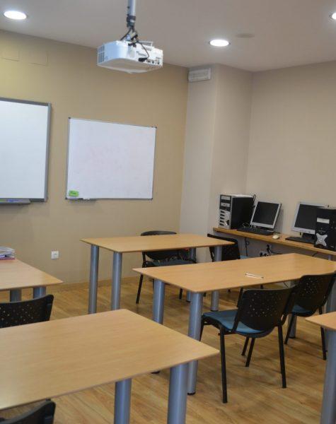 aula 1 de teórica en el centro de formación
